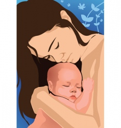mom and baby vector image vector image