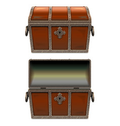 Old fairy chest vector