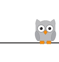 Owls are sitting on a wire vector image vector image