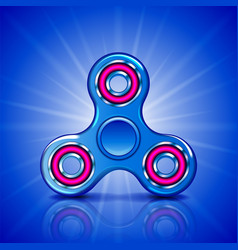 realistic fidget spinner stress relieving toy vector image vector image