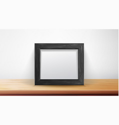 realistic rectangular black frame good for vector image vector image