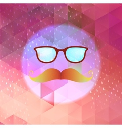 Retro glasses with reflection EPS 10 vector image