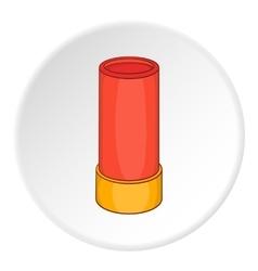 Shotgun shell icon cartoon style vector image