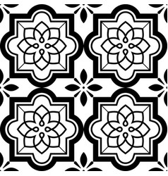 Tiles pattern lisbon floral mosaic set vector