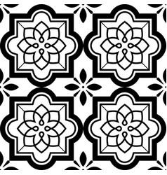 tiles pattern lisbon floral mosaic set vector image vector image