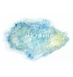 Ukraine map vector image vector image