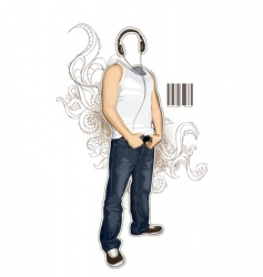 urban guy vector image