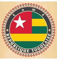 Vintage label cards of togo flag vector