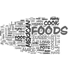 What type of methods is used to cook mexican food vector