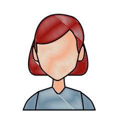 Young woman face vector