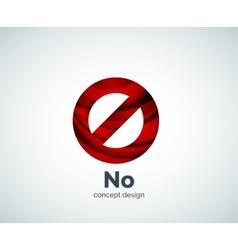 no concept prohibition logo template vector image