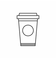Paper cup of coffee icon outline style vector