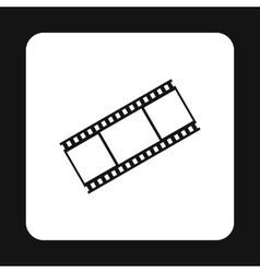 Film strip icon simple style vector