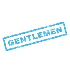 Gentlemen rubber stamp vector
