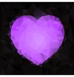 Stylized heart shape made of triangles vector
