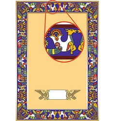 Ornate unique ornate frame vector