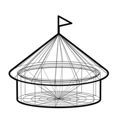 circus tent in wireframe form vector image