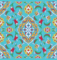 Turkish iznik tile design vector
