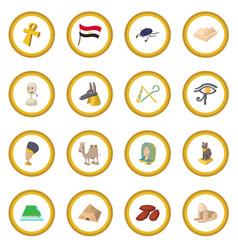 egypt icon circle vector image