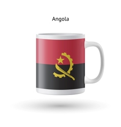 Angola flag souvenir mug on white background vector