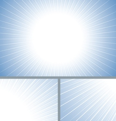 Blue clean sun burst background vector image