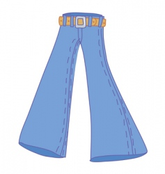 Jeans bellbottom vector