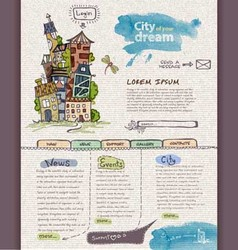Website design template city vector