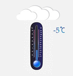 Cold thermometer vector