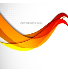 Abstract wavy vector