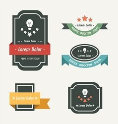 Banner and ribbon design vector