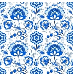 Floral seamless pattern in russian country style vector image