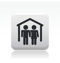 Couple home icon vector