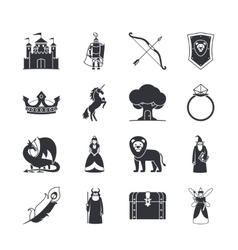 Fairytale and fantasy icons vector