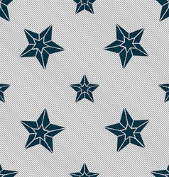 Star icon sign seamless pattern with geometric vector