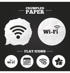 Wifi wireless network icons wi-fi zone locked vector
