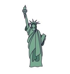 Liberty statue isolated icon design vector