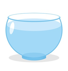 Aquarium with water transparent glass tank for vector