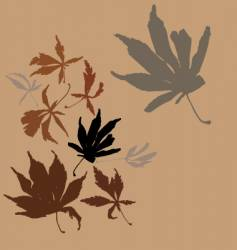 autumn leaves vector image vector image