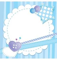blue frame vector image vector image