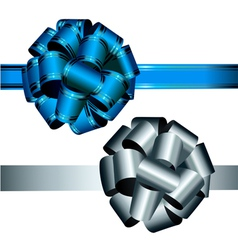 bows blue and silver vector image vector image