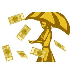 business rain happy vector image vector image