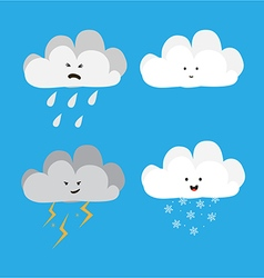 cloud characters vector image