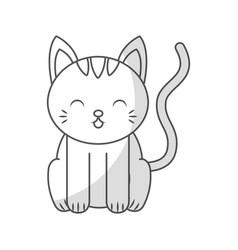 Cute shadow cat cartoon vector
