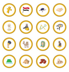 Egypt icon circle vector