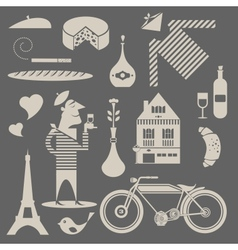 French icons vector image vector image