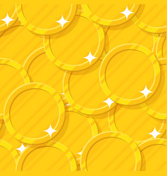 golden coin seamless pattern vector image vector image