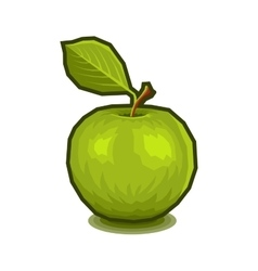 Green Apple with Leaf Icon vector image vector image