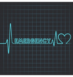 heartbeat make emergency word vector image