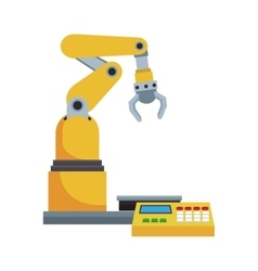 industrial robot design vector image