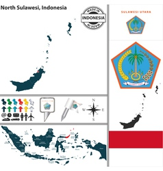 Map of north sulawesi vector